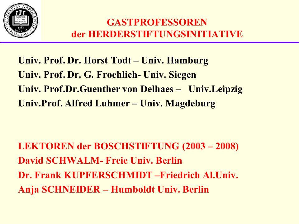 GASTPROFESSOREN der HERDERSTIFTUNGSINITIATIVE