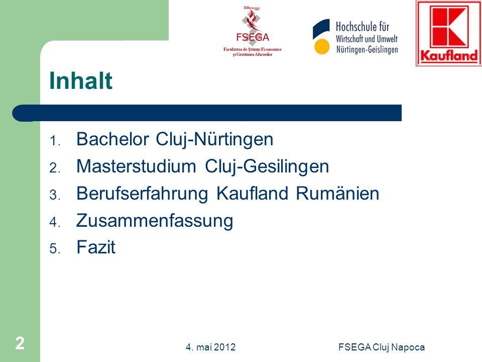 Inhalt Bachelor Cluj-Nürtingen Masterstudium Cluj-Gesilingen