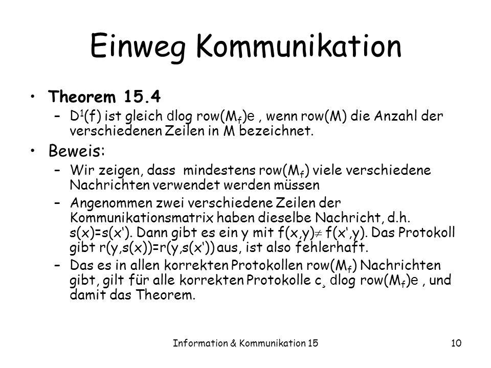 Information & Kommunikation 15