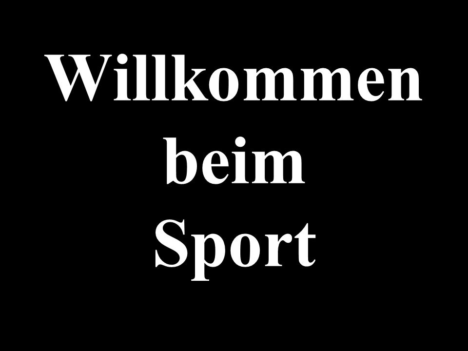 Willkommen beim Sport 1