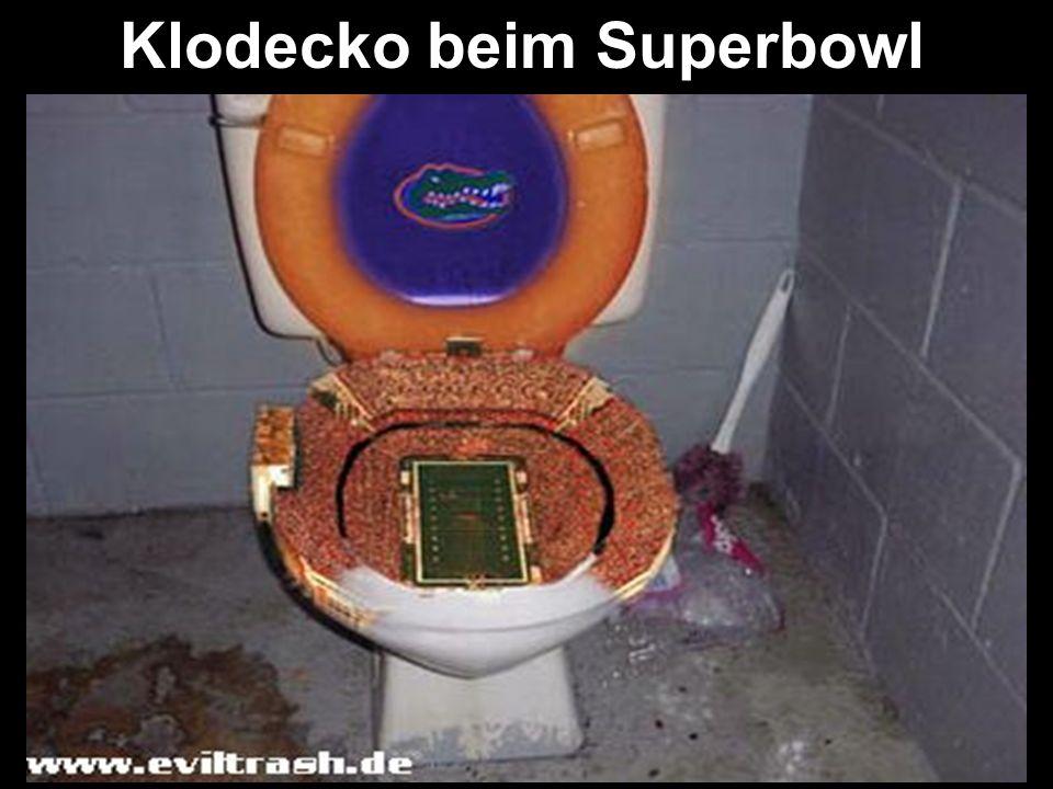 Klodecko beim Superbowl