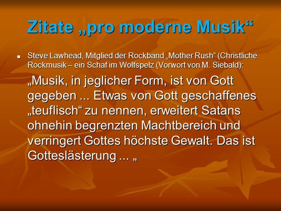 "Zitate ""pro moderne Musik"