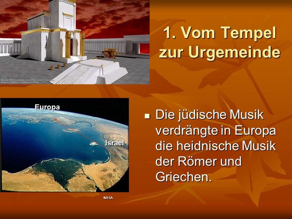 1. Vom Tempel zur Urgemeinde