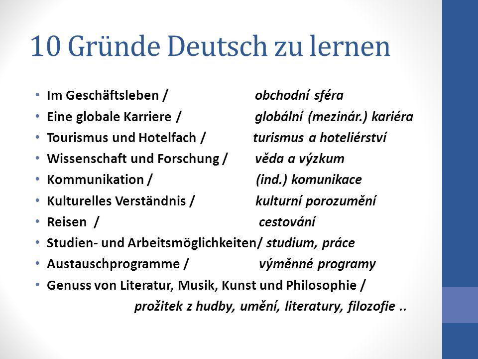 10 Gründe Deutsch zu lernen