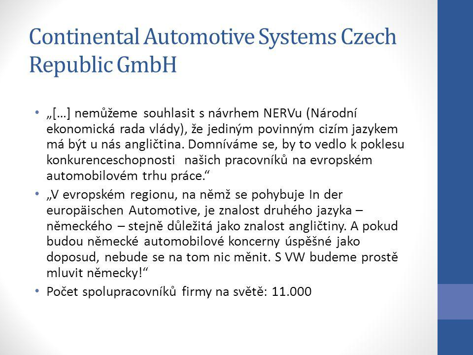 Continental Automotive Systems Czech Republic GmbH