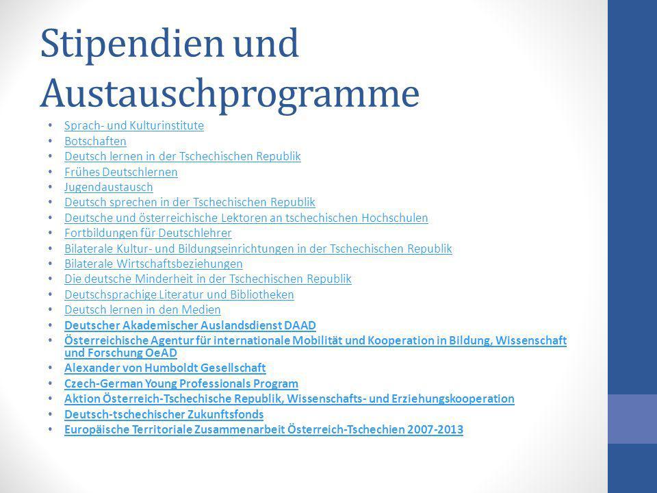 Stipendien und Austauschprogramme