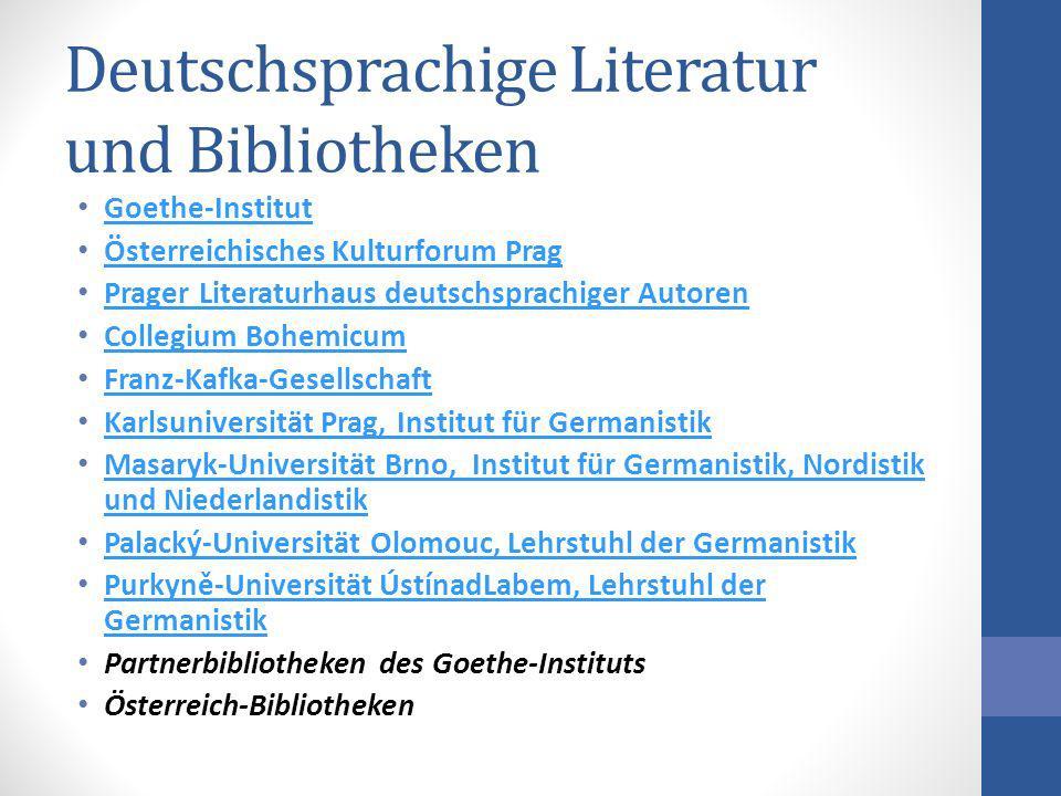 Deutschsprachige Literatur und Bibliotheken