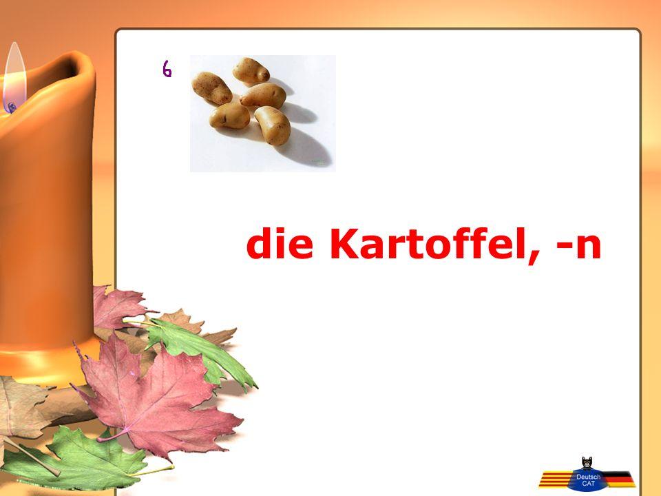 die Kartoffel, -n