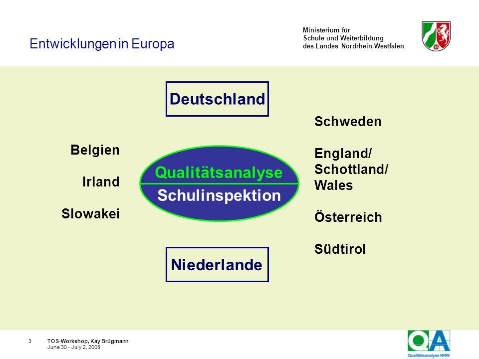 Deutschland Qualitätsanalyse Schulinspektion Niederlande