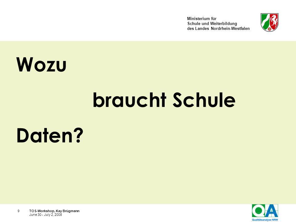 Wozu braucht Schule Daten TOS-Workshop, Kay Brügmann