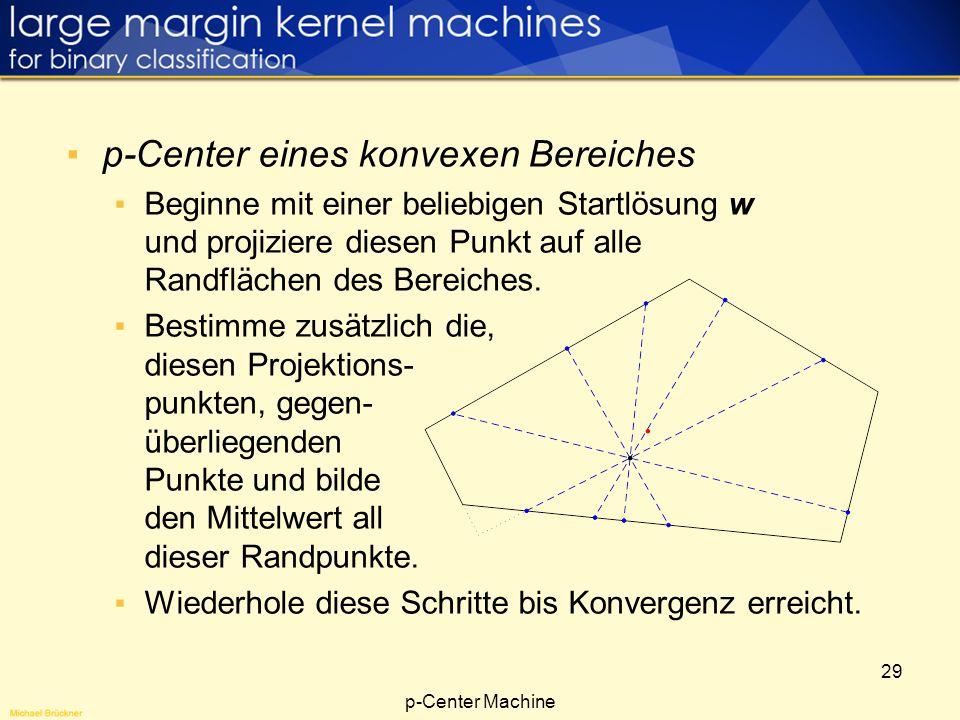 p-Center eines konvexen Bereiches