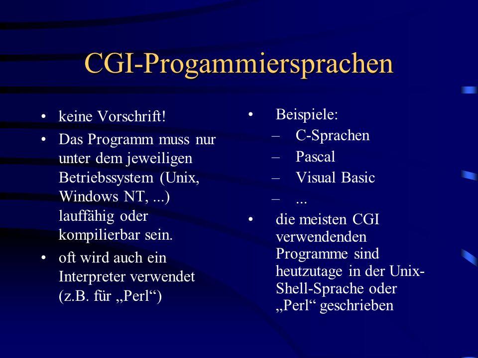 CGI-Progammiersprachen