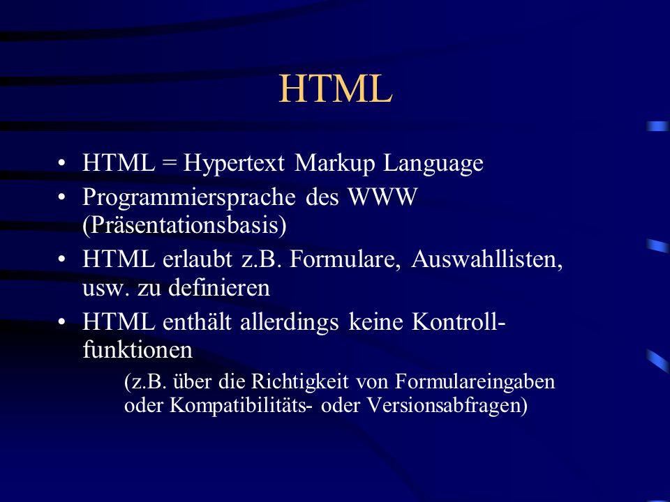 HTML HTML = Hypertext Markup Language