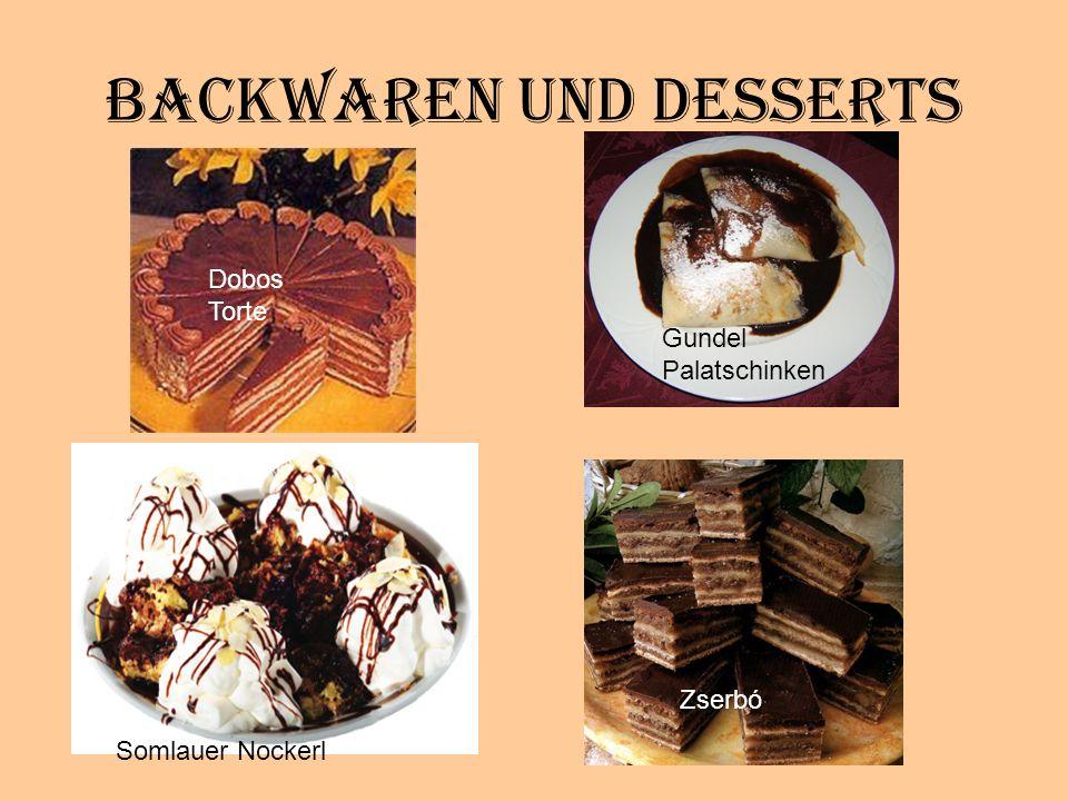 Backwaren und Desserts