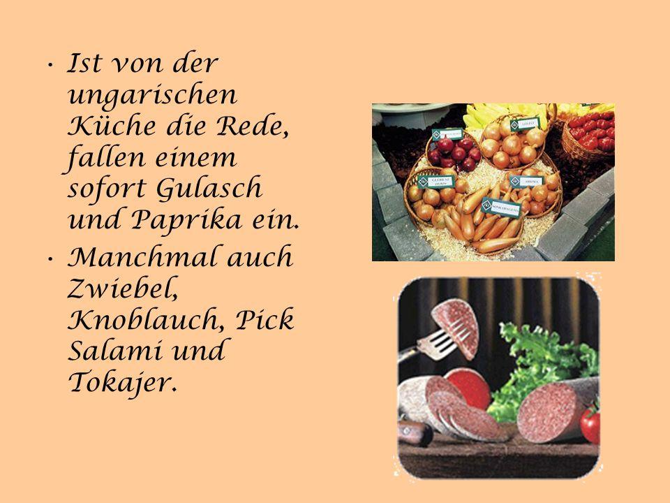 Ist von der ungarischen Küche die Rede, fallen einem sofort Gulasch und Paprika ein.
