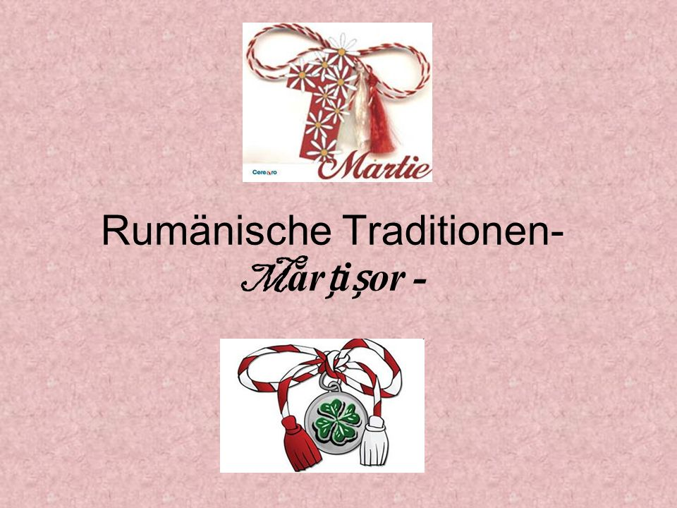 Rumänische Traditionen- Mărțișor -