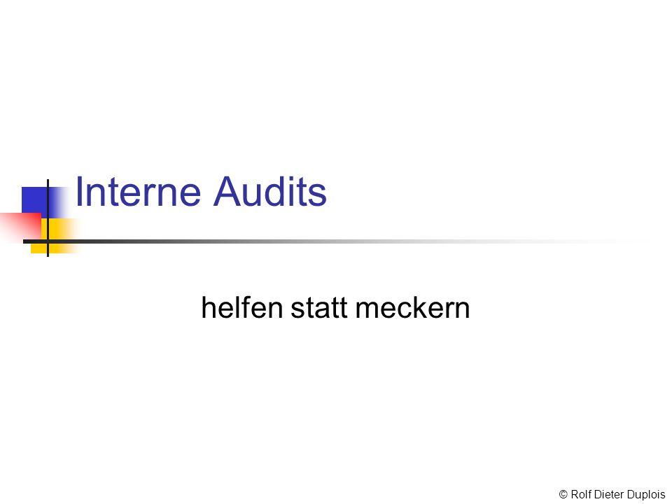 Interne Audits helfen statt meckern