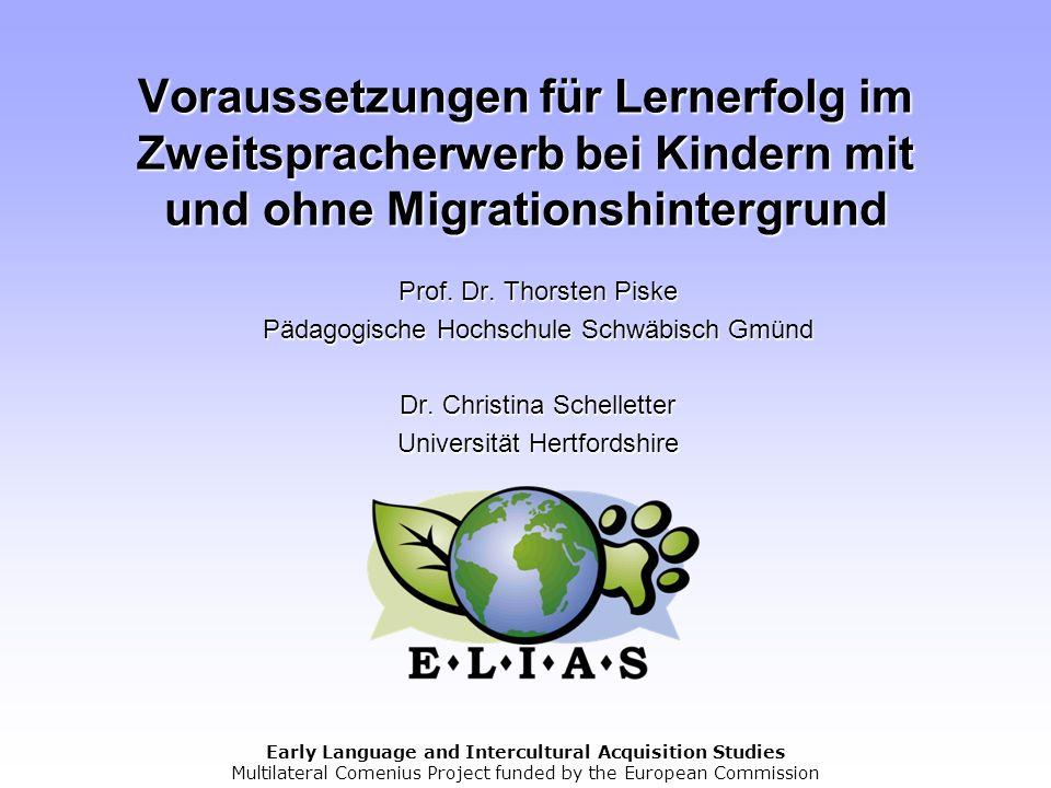 Voraussetzungen für Lernerfolg im Zweitspracherwerb bei Kindern mit und ohne Migrationshintergrund