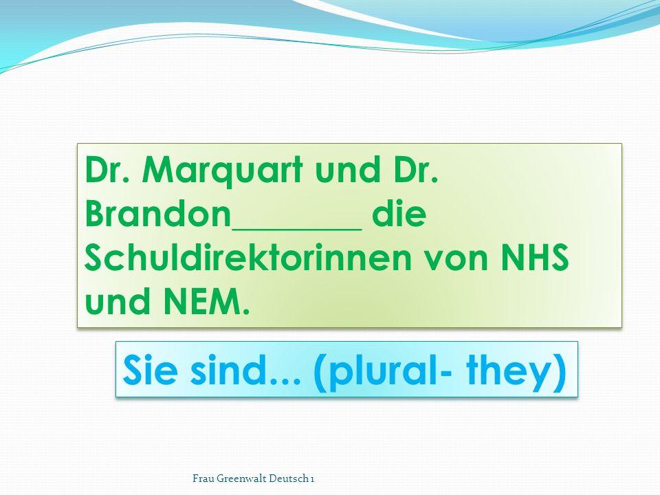 Sie sind... (plural- they)