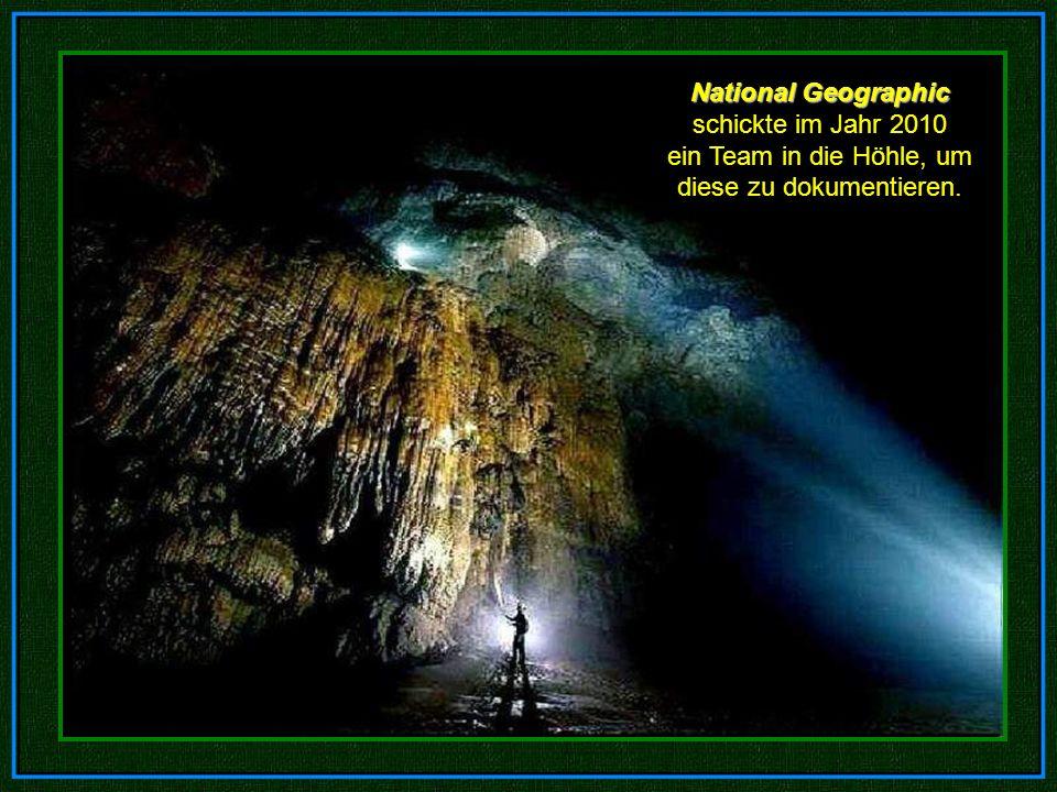 National Geographic schickte im Jahr 2010 ein Team in die Höhle, um diese zu dokumentieren.