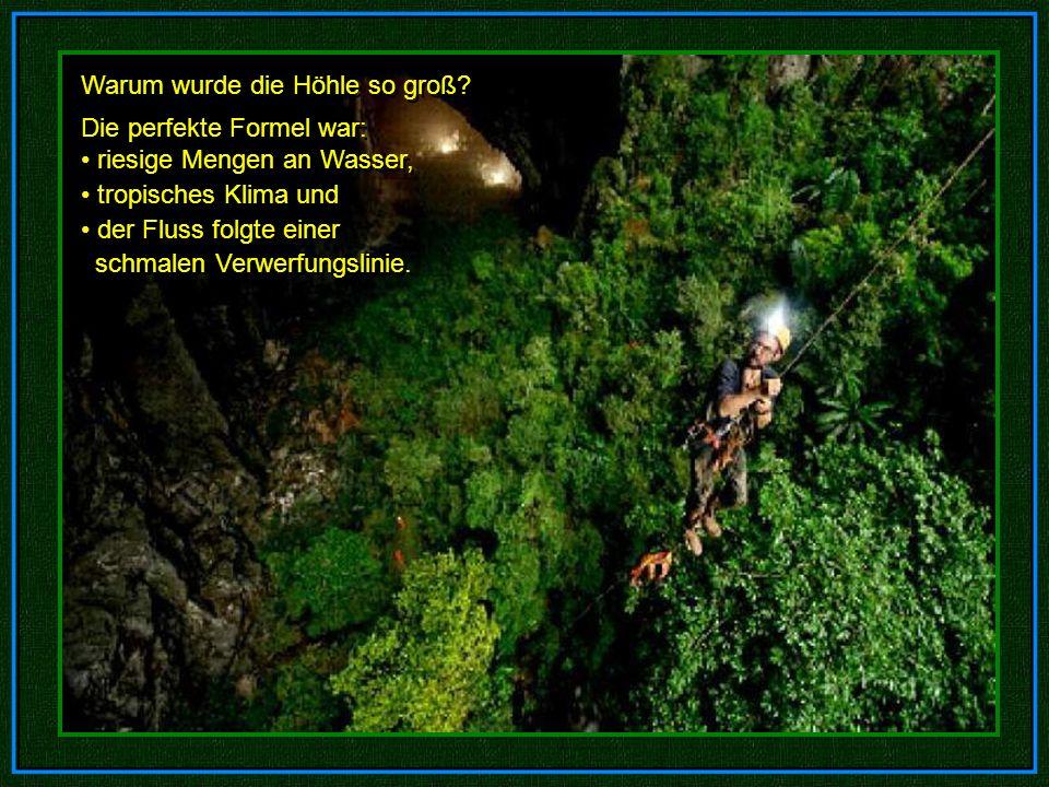 Warum wurde die Höhle so groß