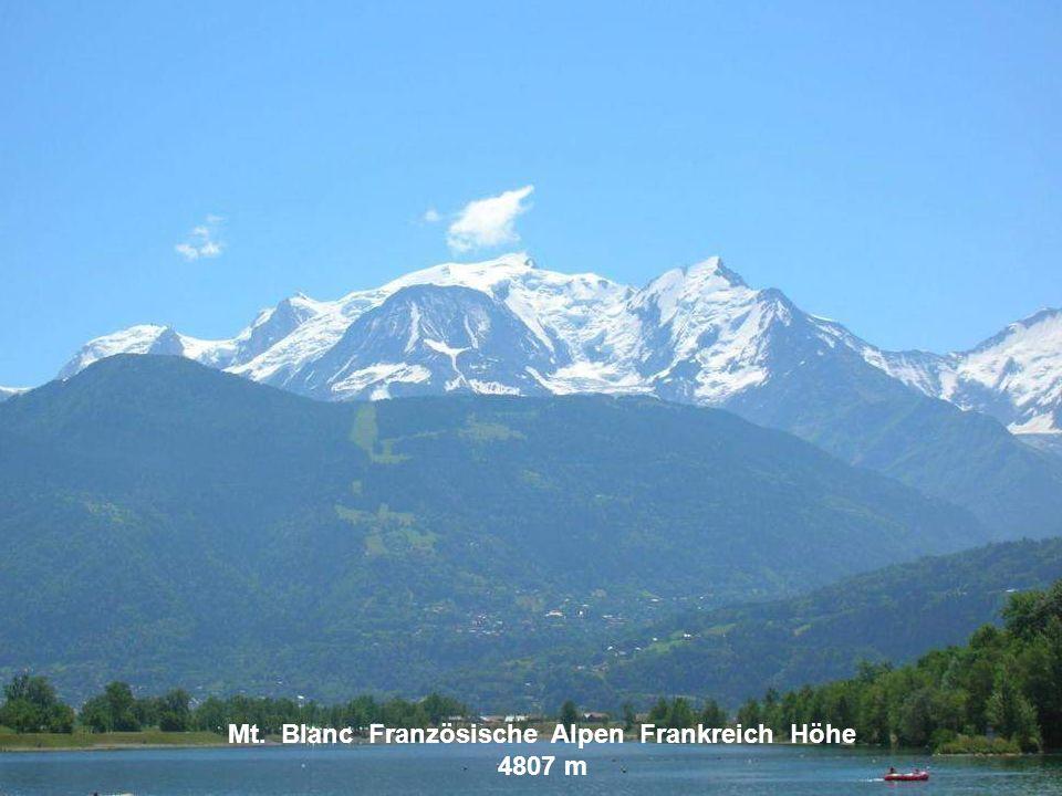 Mt. Blanc Französische Alpen Frankreich Höhe 4807 m
