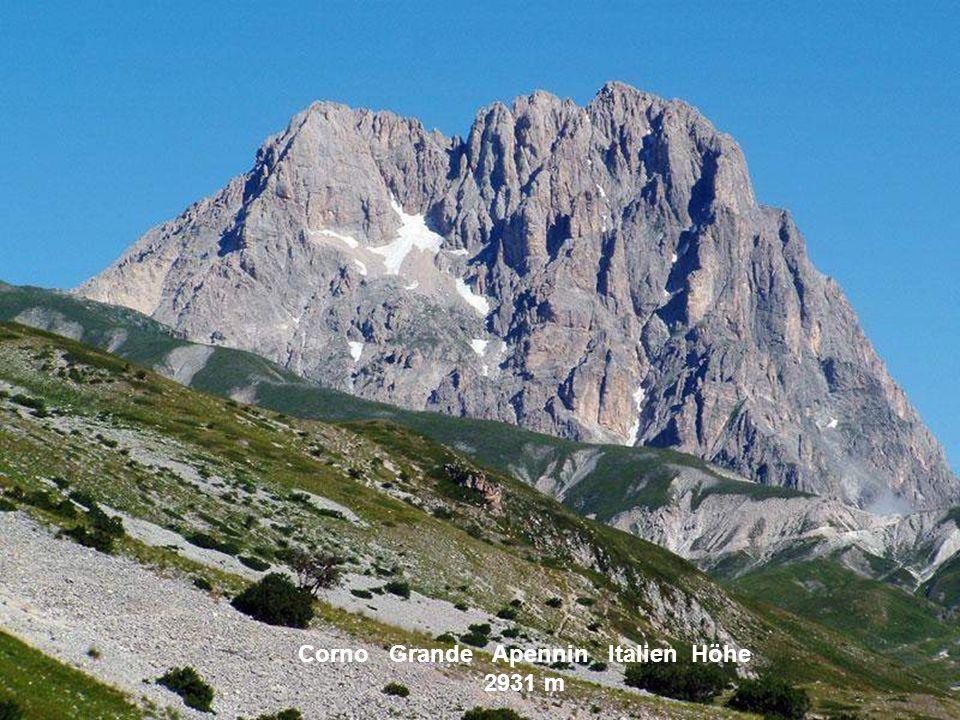 Corno Grande Apennin Italien Höhe 2931 m