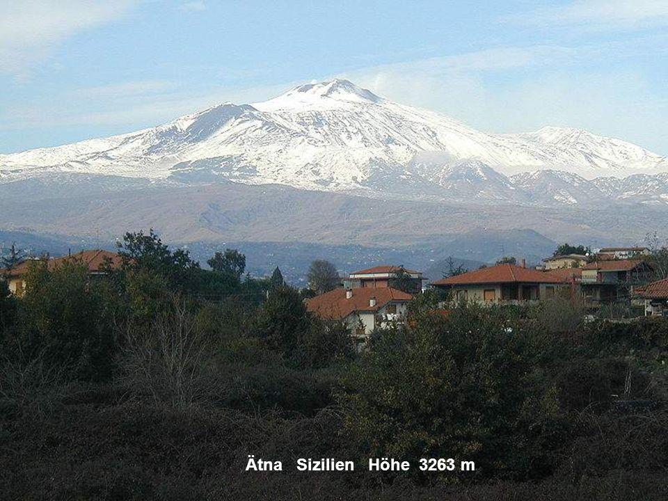 Ätna Sizilien Höhe 3263 m