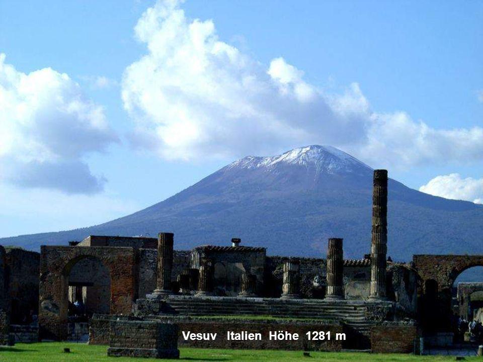 Vesuv Italien Höhe 1281 m