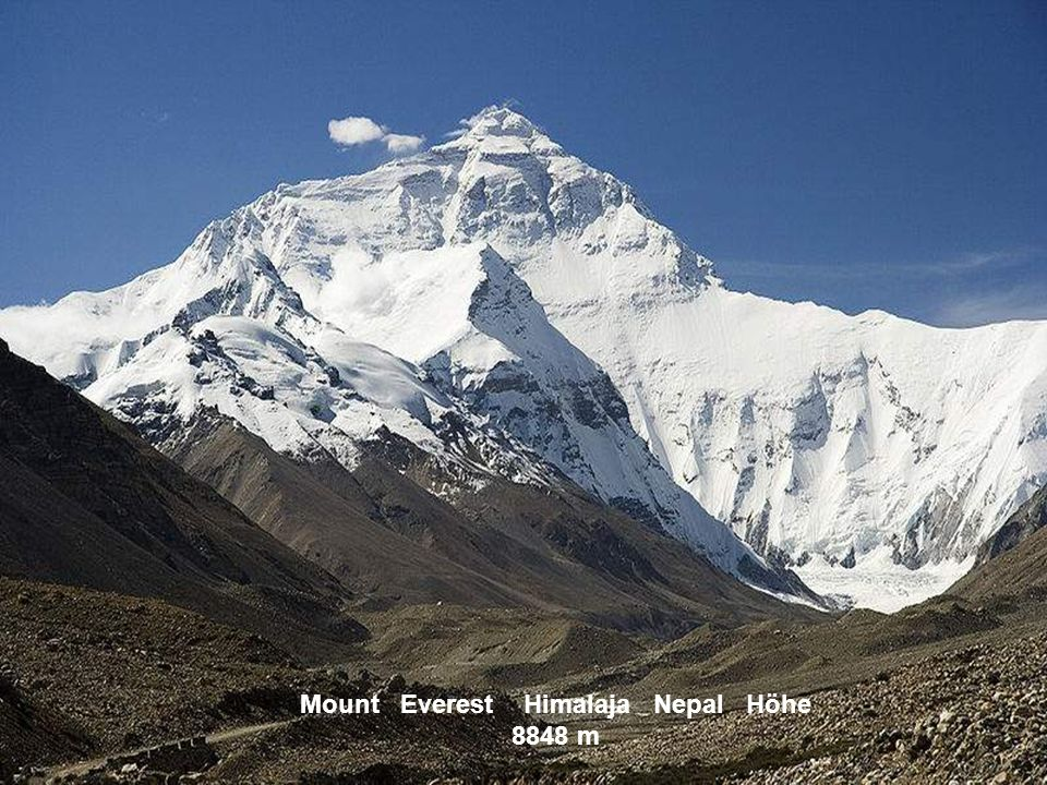 Mount Everest Himalaja Nepal Höhe 8848 m