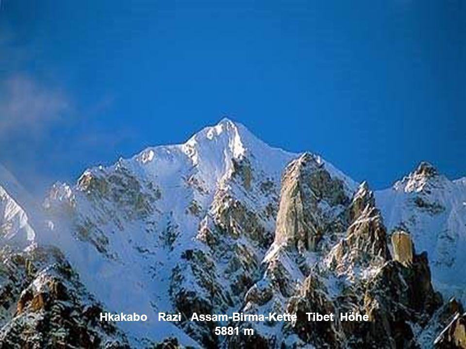 Hkakabo Razi Assam-Birma-Kette Tibet Höhe 5881 m