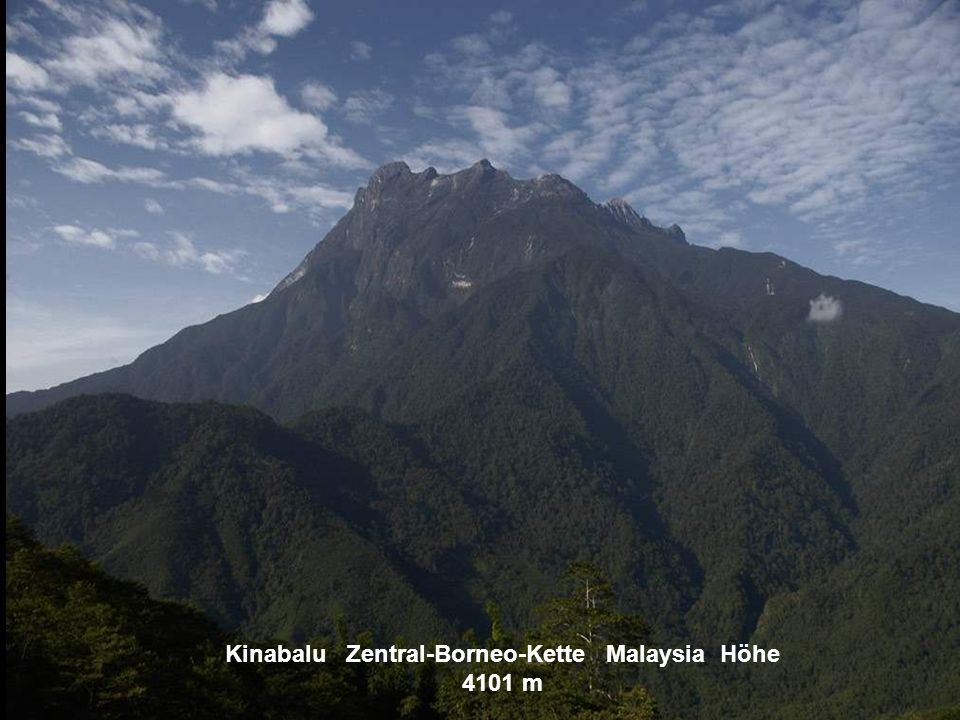 Kinabalu Zentral-Borneo-Kette Malaysia Höhe 4101 m