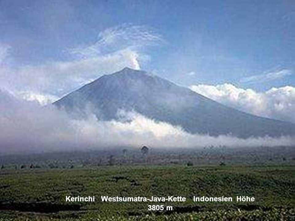 Kerinchi Westsumatra-Java-Kette Indonesien Höhe 3805 m