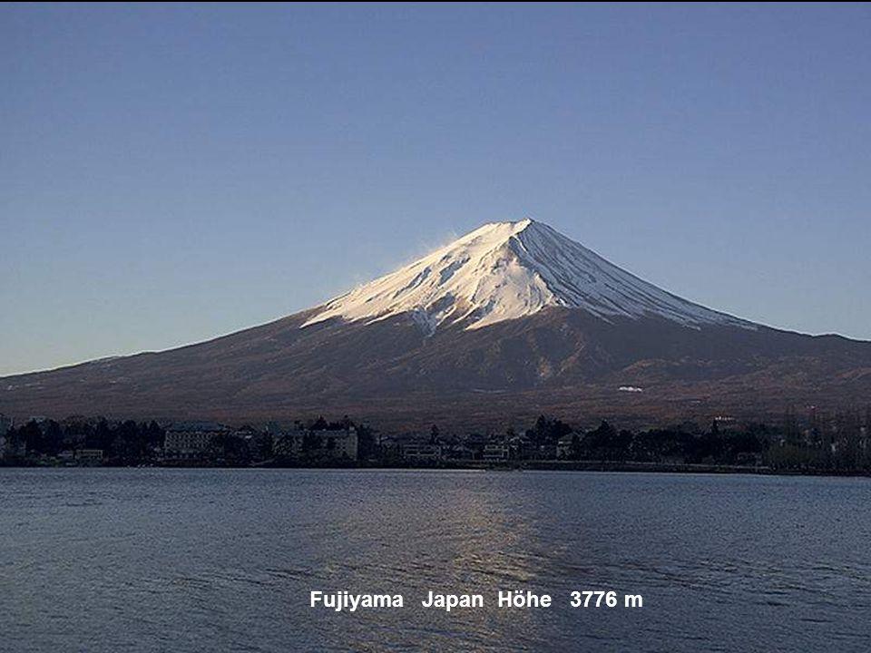 Fujiyama Japan Höhe 3776 m