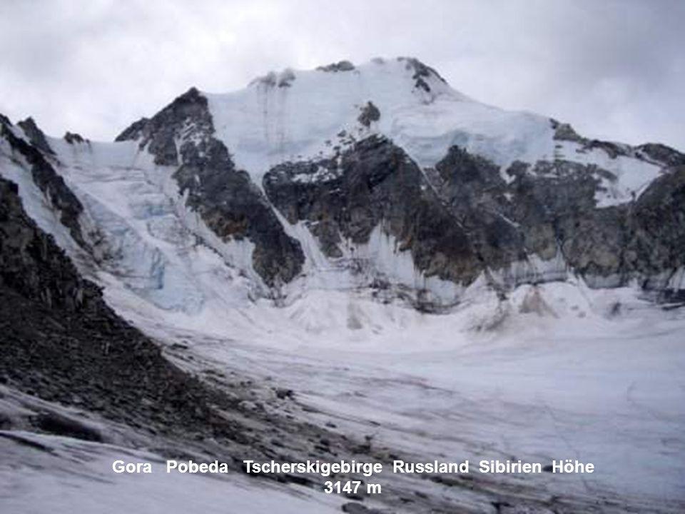 Gora Pobeda Tscherskigebirge Russland Sibirien Höhe 3147 m