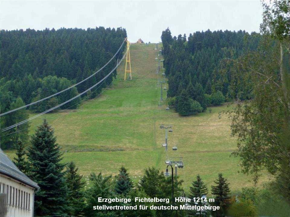 Erzgebirge Fichtelberg Höhe 1214 m stellvertretend für deutsche Mittelgebirge