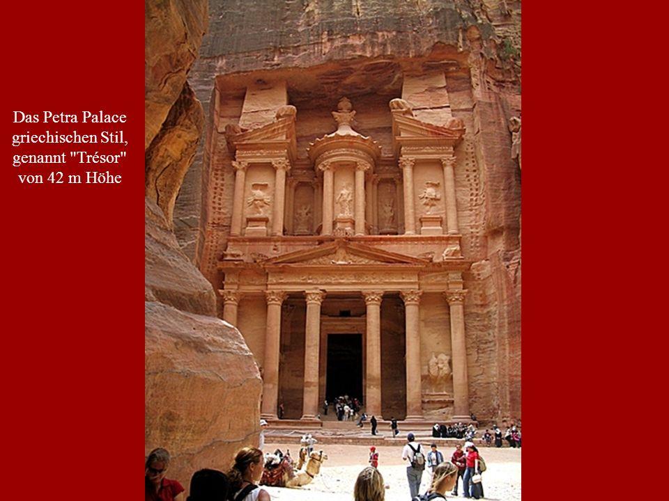 Das Petra Palace griechischen Stil, genannt Trésor von 42 m Höhe
