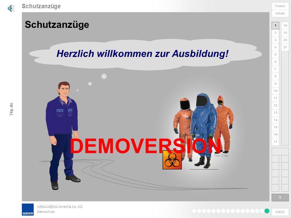 DEMOVERSION Schutzanzüge Herzlich willkommen zur Ausbildung!