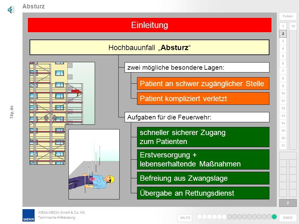 """Hochbauunfall """"Absturz"""