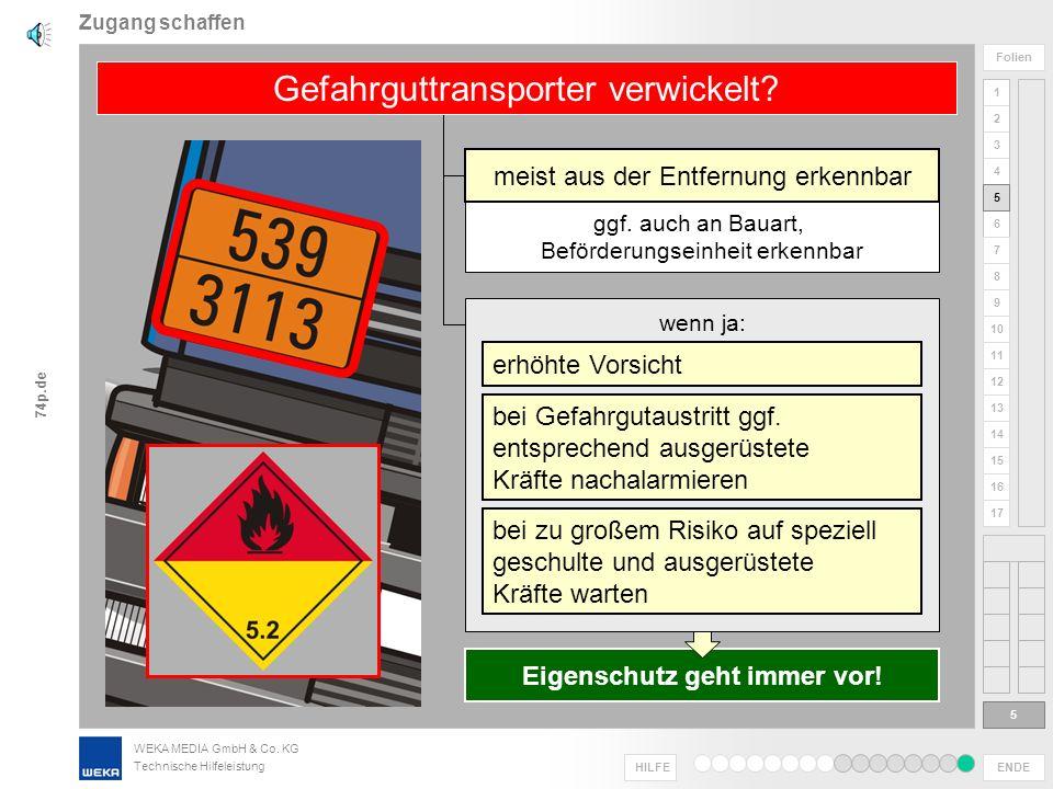 Gefahrguttransporter verwickelt
