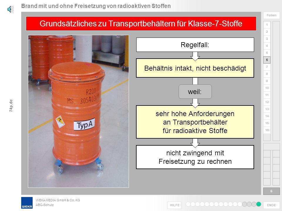 Brand mit und ohne Freisetzung von radioaktiven Stoffen