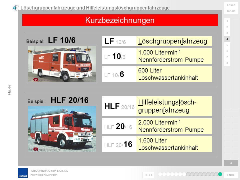 Löschgruppenfahrzeuge und Hilfeleistungslöschgruppenfahrzeuge