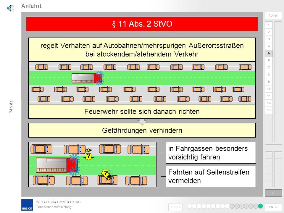 Anfahrt § 11 Abs. 2 StVO. regelt Verhalten auf Autobahnen/mehrspurigen Außerortsstraßen. bei stockendem/stehendem Verkehr.