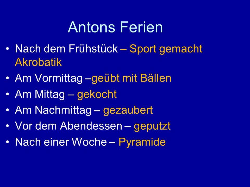 Antons Ferien Nach dem Frühstück – Sport gemacht Akrobatik