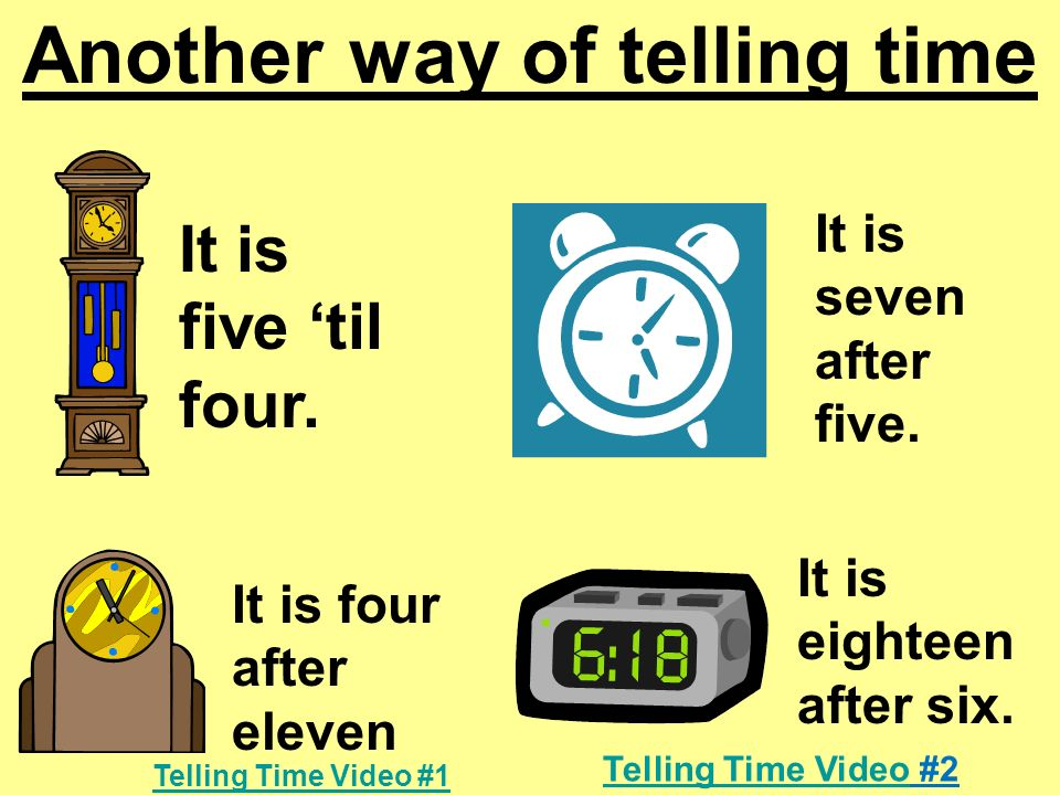 Another way of telling time