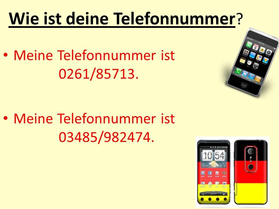 Wie ist deine Telefonnummer