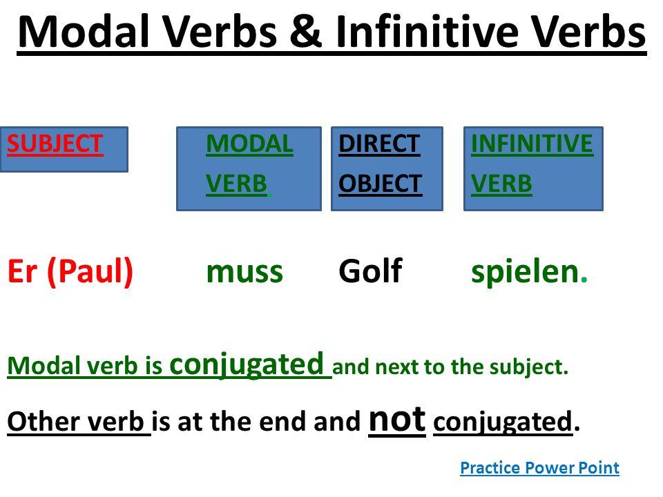 Modal Verbs & Infinitive Verbs