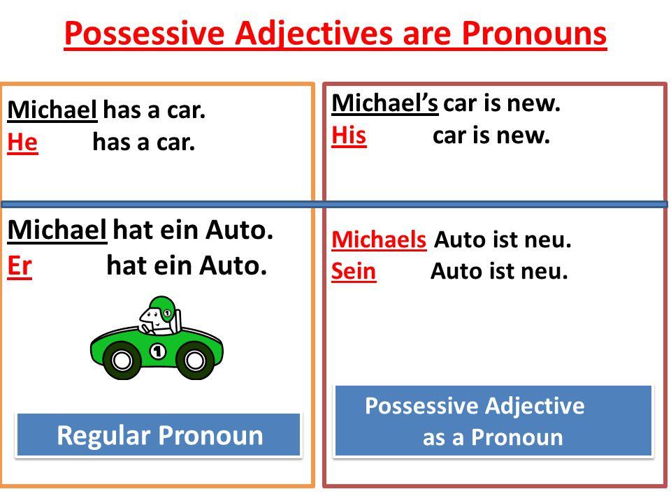 Possessive Adjectives are Pronouns