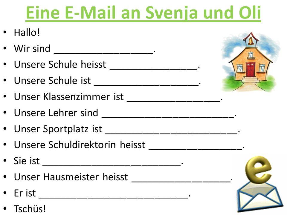 Eine E-Mail an Svenja und Oli