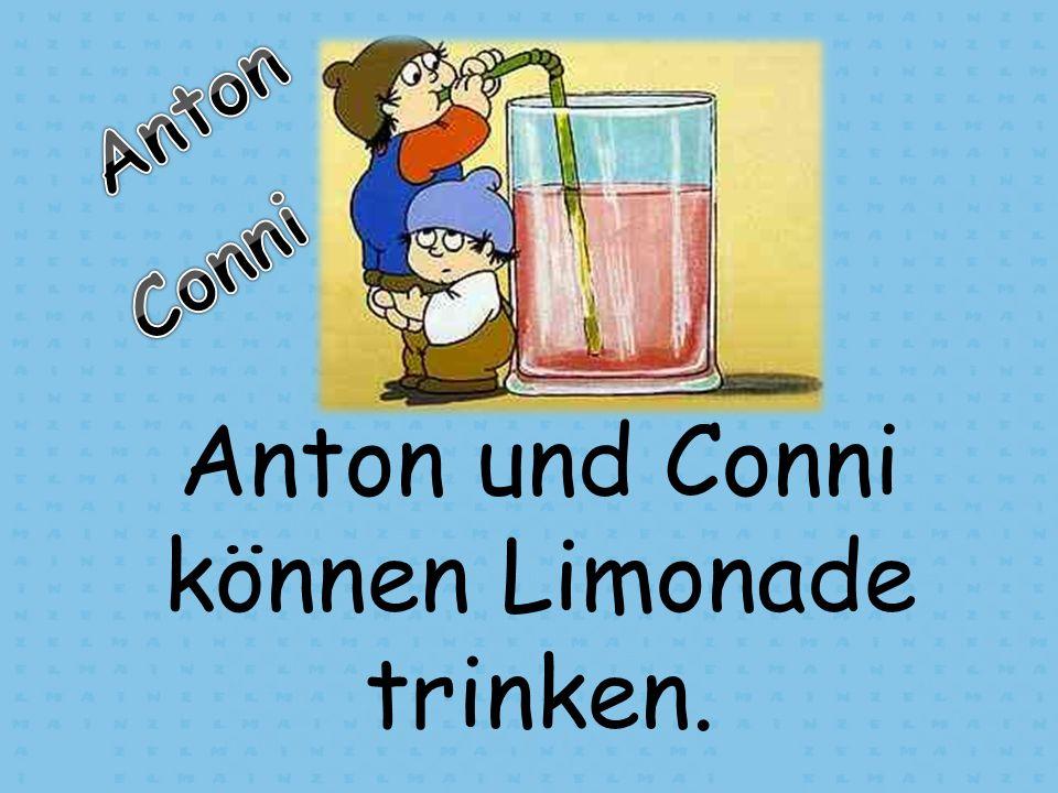 Anton und Conni können Limonade trinken.